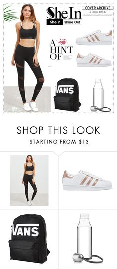 """""""NEW SHEIN CONTEST-W2IN THESE LEGGINGS"""" by dressing-is-a-way-of-life ❤ liked on Polyvore featuring adidas Originals, Vans and Eva Solo"""