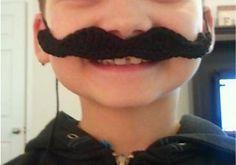 Handlebar Moustache: free pattern Your new project Julian ! Crochet Mustache Pattern, Crochet Toys Patterns, Crochet Crafts, Crochet Yarn, Crochet Hooks, Crochet Projects, Handlebar Mustache, Moustache, Dr Seuss Crafts