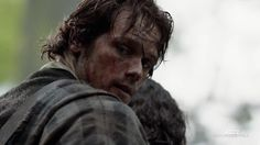 """Jamie Fraser from Outlander Episode 101 """"Sassenach"""". Dirty, battered and laconic, he is nevertheless arresting."""