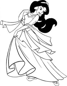 Pretty Snow White Dancing Coloring Page H M Coloring Pages