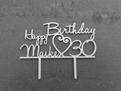 Cake Topper Geburtstagstorte von logo-cut auf DaWanda.com