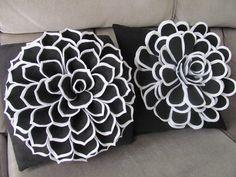 Decorative Pillow Pattern DAISY ROSE Felt Flower by SewYouCanToo