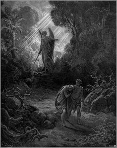 """""""A Expulsão de Adão e Eva"""" - Gustave Doré"""