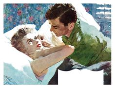 1959 illustration by Joe Bowler for the story If Dreams Come True by Leslie Gordon Barnard. From Woman's Own magazine.