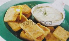 :: Nugget Ikan Goreng Saus Keju :: Homemade Fish Nugget with Cheese Dip. For baby 1 years up. Recipe in Bahasa Indonesia.