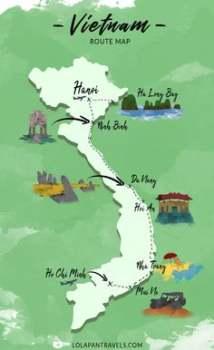 vietnam travel tips Vietnam Route Map! The post vietnam travel tips Vietnam Route Map! appeared first on Woman Casual - Travel Travel Maps, Asia Travel, Wanderlust Travel, Travel Route, Laos Travel, Cambodia Travel, Travel Logo, Hoi An, Hue Vietnam