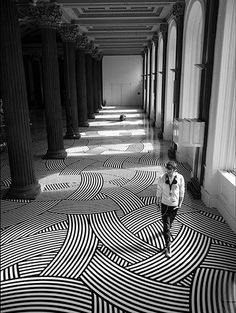 Black and White Spaghetti Floor
