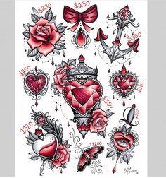 heart-shaped bottle tattoo design