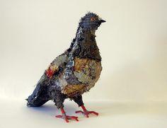 my latest textile pigeon by Karen Suzuki
