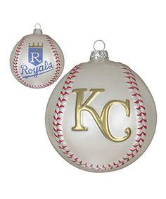 Kansas City Royals Glass Baseball Hat Ornament   Baseball hats