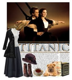 """Titanic Inspired"" by hannaczerny ❤ liked on Polyvore featuring DeWitt, Maria Grachvogel, Oscar de la Renta, Hell Bunny, Betmar, titanic and MovieSets"