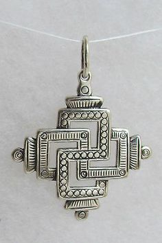 Svarga Old Hutsul Cross Pendant Oxidized Sterling Silver   eBay