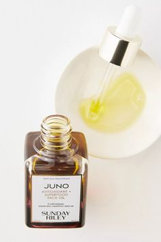 Sunday Riley Juno Antioxidant + Superfood Face Oil Red Raspberry Seed Oil, Raspberry Seeds, Homemade Hair Treatments, Sunday Riley, In Cosmetics, Healing Herbs, Face Oil, Active Ingredient, Superfood