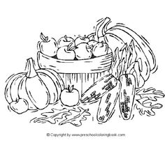 423 Free, Printable Autumn and Fall Coloring Pages: Preschool Coloring Book Fall Coloring Pages