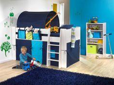 Zasłonka do łóżka piętrowego - Steens for kids - niebieska