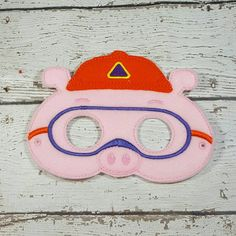 Pig Mask, Super Why, Alpha Pig, Pretend Play, Dress Up, Birthday, Party Favor by ABearyCuteShoppe on Etsy