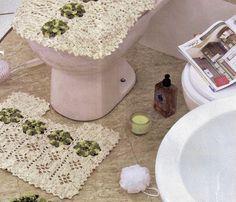 CROCHE COM RECEITA: Tapetes em croche requinte para o banheiro