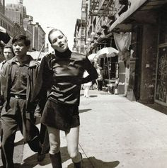 Kate Moss in Ney York City.