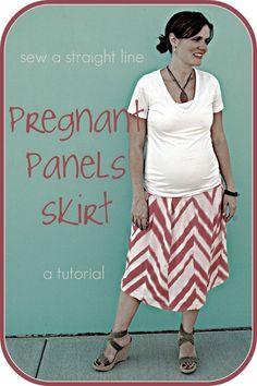 Sew your own pregnancy panel skirt