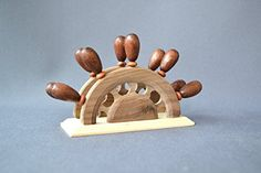 Handmade Napkin Holder Wood Kitchen Utensil EcoFriendly -- Read more reviews of the product by visiting the link on the image.