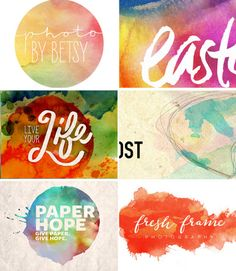 Easter Watercolor Moodboard - Swell Studios