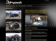 1drywash-verkkokaupassa myydään tuotteita, jotka mahdollistavat auton, matkailuauton, veneen, moottoripyörän tai vaikkapa kodin ikkunoiden ja peilien pesemisen ilman vettä. Desktop Screenshot