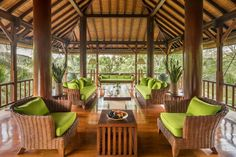 COMO-Shambhala-Estate_Residence-common-living-area-at-Wanakasa-Residence Outdoor Furniture Sets, Outdoor Decor, Ubud, Hotel Reviews, Hotels And Resorts, Living Area, Spa, Luxury, Architecture
