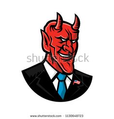 Devil American Businessman Mascot by patrimonio on Mascot icon illustration of bust of a demon, devil or satan grinning, dressed as an American businessman in business suit and tie viewed from front on isolated background in retro style. Monster Design, Graphic Illustration, Retro Illustrations, Freelance Illustrator, Artwork Design, Suit And Tie, Drawing Sketches, New Art, Retro Fashion