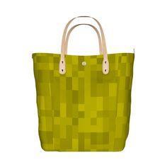 モザイク模様のグラフィックのトートバッグです。/『モザイク グラフィックトートバッグ イエロー』 - 7th Spirits