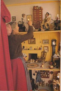 Tasha Tudor Garden Tour | Tasha Tudor's dollhouse in the alcove
