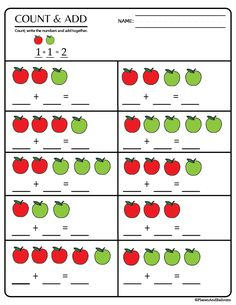 Kindergarten math worksheets pdf - perfect for kindergarten math centers! Addition worksheets, subtraction worksheets, tally marks, and more! Kindergarten Addition Worksheets, Subtraction Worksheets, Printable Math Worksheets, Kindergarten Worksheets, Free Printable, Preschool Math, Math Activities, Math For Kids, Math Centers