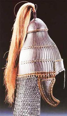 (Hungary) An Avar Helmet, which was adopted by the Huns after they conquered & assimilated with the Avar tribes. Ancient Armor, Empire Romain, Early Middle Ages, Arm Armor, Dark Ages, Ancient Artifacts, Ancient History, Hungary, Archaeology