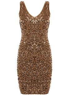 ninja PrettyGuide Women Sexy Deep V Neck Sequin Glitter Bodycon Stretchy Mini Party Dress (Gold) PrettyGuide http://www.amazon.com/dp/B00T9CVPOU/ref=cm_sw_r_pi_dp_6CVmwb13JATRY