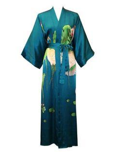 Old Shanghai Women's Silk Kimono- Handpainted (Long)- Crane Teal Old Shanghai http://www.amazon.com/dp/B0042ZB85U/ref=cm_sw_r_pi_dp_V0OCub0DXWHHS LOVE ALL OF THESE