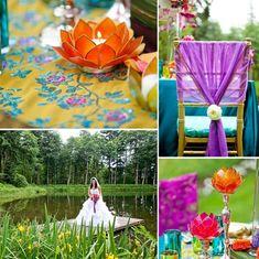 Colorful Spring Wedding