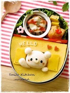 hello-byebye bear bento w/ recipe