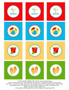BEACH PARTY! Toppers AND BANNER! Free printable.