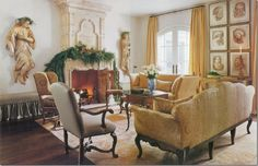 Veranda Magazine | Interior Design by Pam Pierce | Fortuny Pillows by B. Viz Design | bviz.com