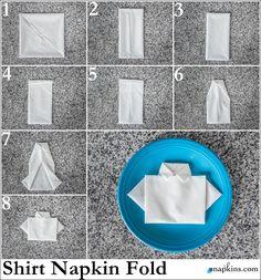 Shirt Napkin Fold