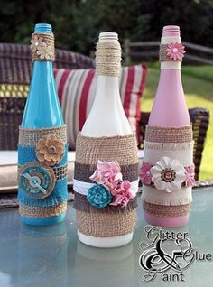 tiki wine bottles, design d cor, diy home crafts, repurposing upcycling, These would be perfect for a shower(Bottle Painting Designs) Empty Wine Bottles, Wine Bottle Corks, Glass Bottle Crafts, Painted Wine Bottles, Diy Bottle, Glass Bottles, Decorated Bottles, Alcohol Bottles, Recycled Bottles