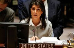 Jerusalem: US Envoy Haley calls UN center of hostility towards Israel