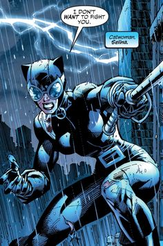 """""""I don't want to fight you."""" Catwoman to Batman in Batman: Hush"""
