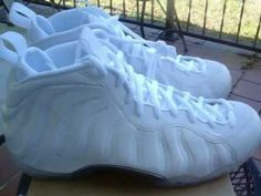e4b95b23546 NIKE AIR FOAMPOSITE 1 WHITE OUT VIDEO REVIEW - YouTube White Out