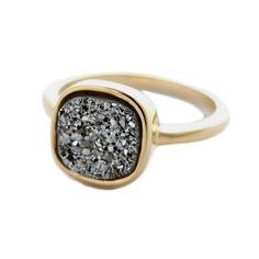 Metallic Druzy Ring