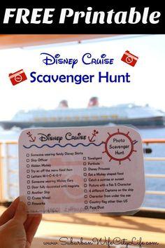 Disney Cruise Photo Scavenger Hunt Free Printable #disneycruise #disneysmmc