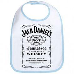 A la recherche du cadeau d'un #cadeau original, vous l'avez trouvé ! #Bavoir #bebe #Jackdaniels whisky