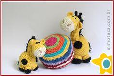 GIRAFA Mimoteca - emoção em arte Crochet Amigurumi