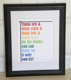 Dr. Seuss QUOTE  The thinks you can think   Print  by Lexiphilia, $12.00