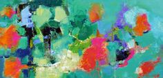 """Abstract Artists International: Expressionistic Contemporary Abstract Painting """"Tantalize"""" by Elizabeth Chapman"""