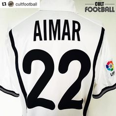 Hand up if you signed this guy on Championship Manager? via @cultfootball #aimar #valencia #footballshirtcollective